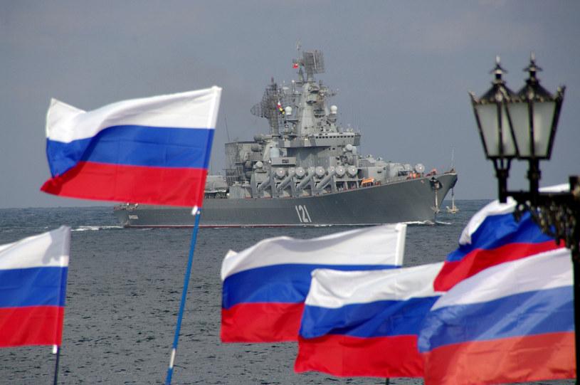 Na zdjęciu rosyjski okręt u wybrzeży Ukrainy /VASILIY BATANOV /AFP