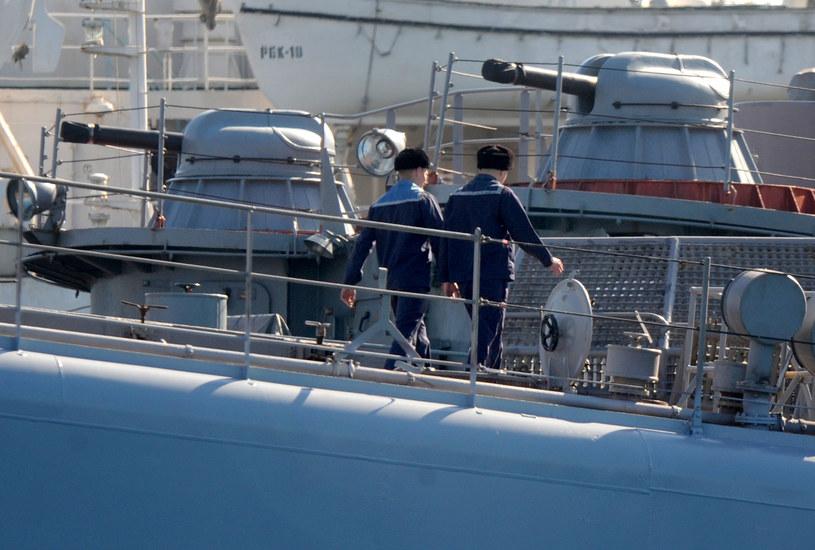 Na zdjęciu rosyjski statek w Sewastopolu /VIKTOR DRACHEV /AFP