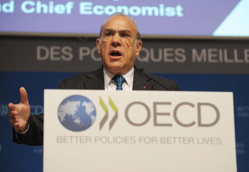 Na zdjęciu sekretarz generalny OECD Angel Gurria /ERIC PIERMONT /AFP