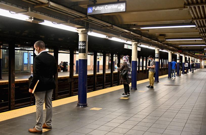 Na zdjęciu: Stacja metra w Nowym Jorku /Angela Weiss /AFP