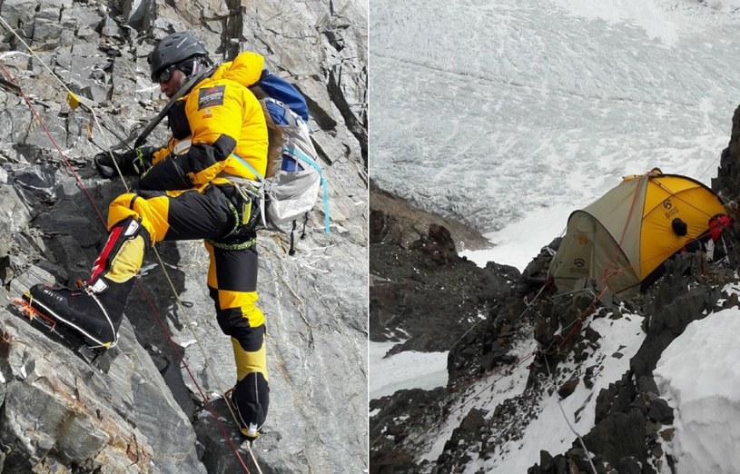 Na zdjęciu uczestnik wyprawy na K2 Rafał Fronia /archiwum prywatne