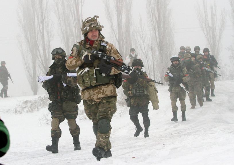 Na zdjęciu: Ukraiński oddział wojskowy w Donbasie /AFP