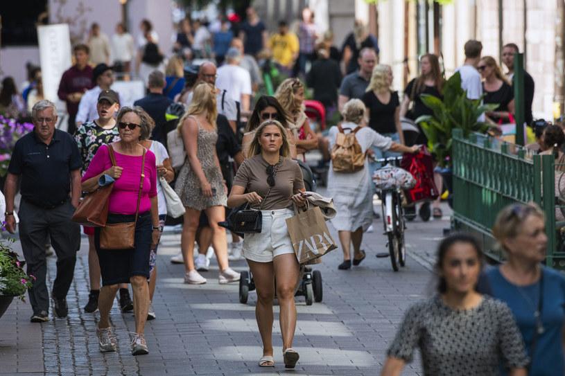 Na zdjęciu ulica w Sztokholmie /JONATHAN NACKSTRAND /AFP