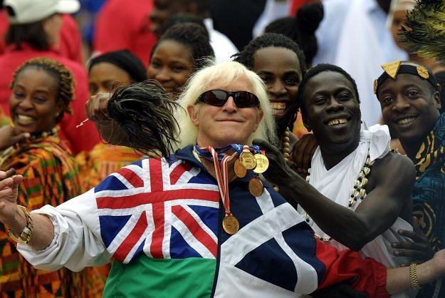 Na zdjęciu z 2002 roku gwiazda BBC Jimmy Savile /AFP