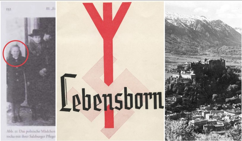 """Na zdjęciu z lewej strony dziecko, które trafiło do obozu Parsch (zdjęcie pochodzi z książki Ines Hopfer """"Geraubte Identität"""") /"""