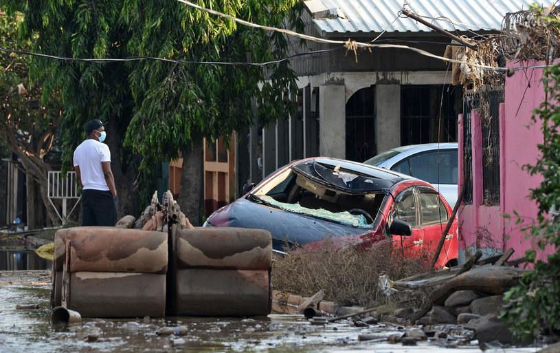 Na zdjęciu: Zniszczenia spowodowane huraganem Eta /Orlando SIERRA /AFP