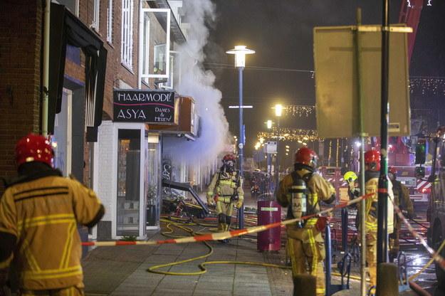 Na zdjęciu zniszczony polski sklep w Aalsmeer