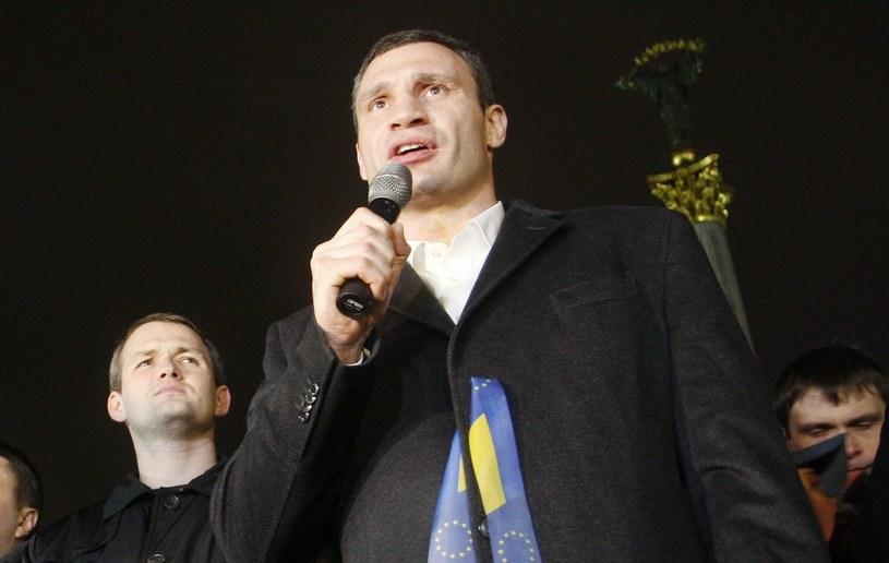 Na zdjęiu Witalij Kliczko, lider opozycyjnej partii UDAR /AFP