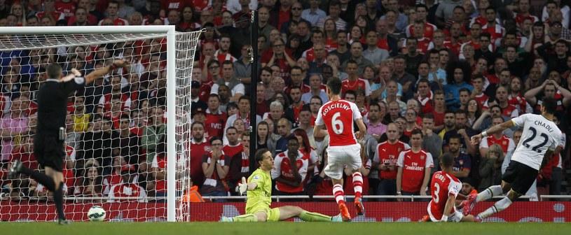 Nacer Chadli strzela gola dla Tottenhamu /AFP