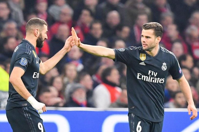 Nacho (z prawej) cała karierę spędził w Realu Madryt. Obok Karim Benzema /EMMANUEL DUNAND /AFP