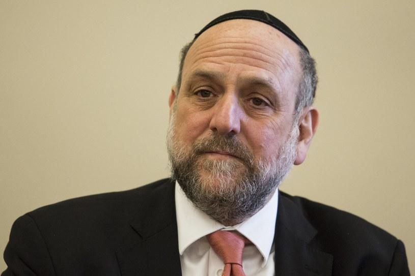 Naczelny rabin Polski Michael Schudrich /Andrzej Hulimka  /Reporter