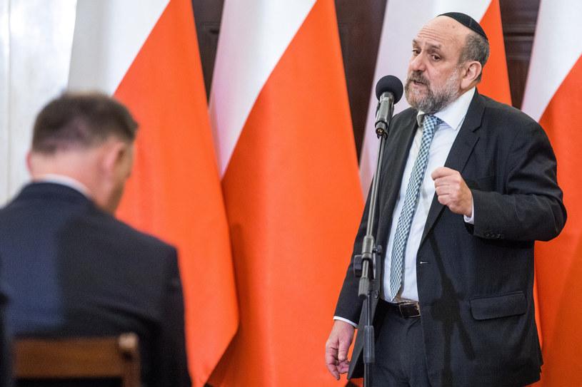 Naczelny rabin Polski Michael Schudrich /fot. Andrzej Iwanczuk/REPORTER /Reporter