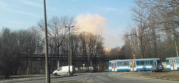 Nad hutą unosiły się kłęby dymu /Gorąca Linia RMF FM