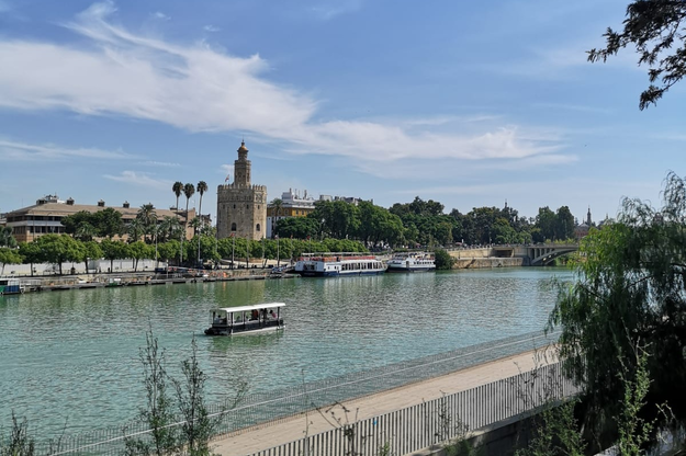 Nad rzeką Gwadalkiwir stoi Torre del Oro - Złota Wieża /Patryk Serwanski /RMF FM