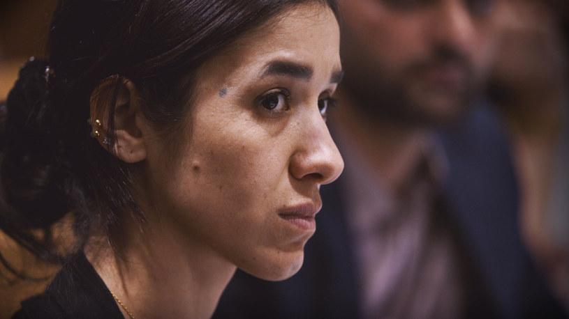 Nadia Murad mówi, że jej historia jest największą siłą i bronią, jaką dysponuje. Padła ofiarą gwałtu, gdy bojówki ISIS zaatakowały jej rodzinną wioskę w Iraku. / Image Capital Pictures /Agencja FORUM