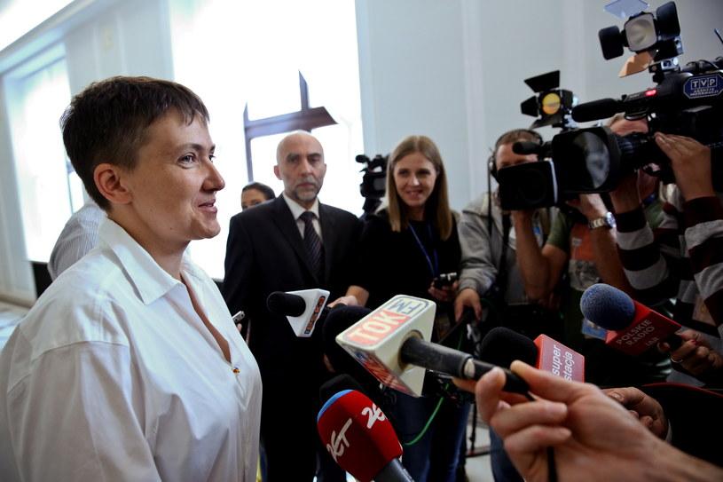 Nadia Sawczenko w Sejmie /Rafał Guz /PAP