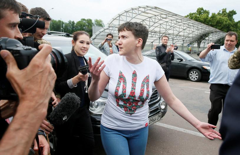 Nadia Sawczenko wróciła na Ukrainę /Gleb Garanich /Agencja FORUM