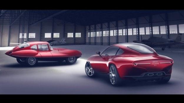 Nadwozie Disco Volante zostało wykonane ręcznie z aluminium, a zderzaki - z kompozytów (CFRP). /Alfa Romeo