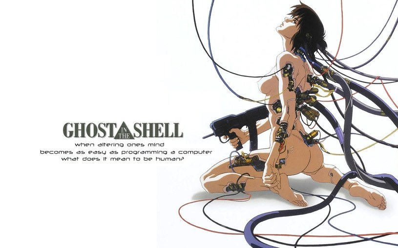 "Naga bohaterka animacji ""Ghost in the Shell"" /materiały prasowe"
