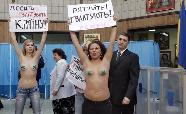 Naga demonstracja na wyborach prezydenckich na Ukrainie