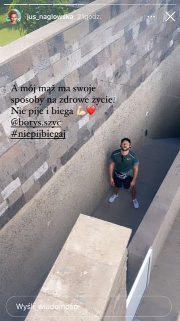 Nagłowska o Szycu walczącym z nałogiem przez bieganie (https://www.instagram.com/jus_naglowska/) /Instagram