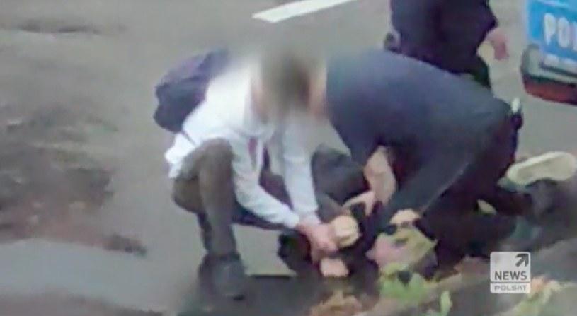 Nagranie z interwencji policji /Polsat