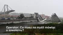 Nagranie z telefonu ratunkowego zaraz po katastrofie w Genui