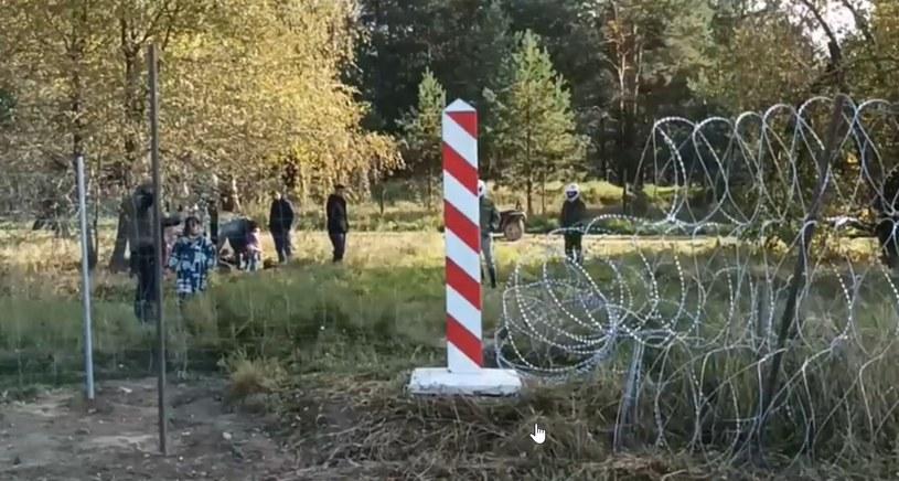 Nagranie zostało wykonane przy granicy z Białorusią /MON /materiały prasowe