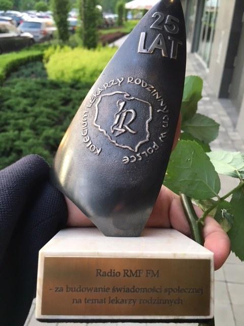 Nagroda przyznana RMF FM /Marek Balawajder /RMF FM