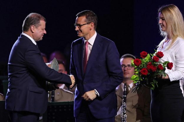 Nagrodę premierowi Litwy wręczył Mateusz Morawiecki / Grzegorz Momot    /PAP