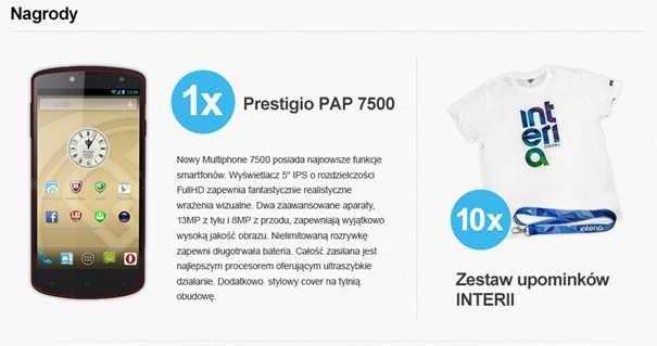 """Nagrody przygotowane dla internautów  w konkursie """"Wielki Test o Internecie"""" /INTERIA.PL"""