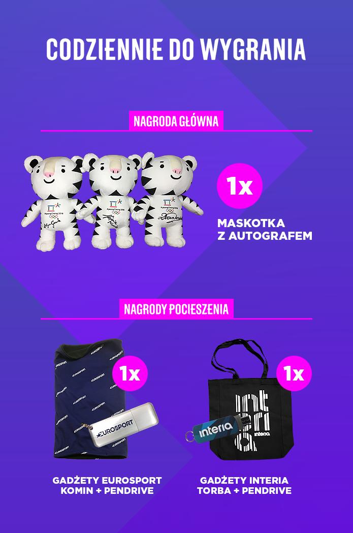 Nagrody w konkursie olimpijskim /INTERIA.PL
