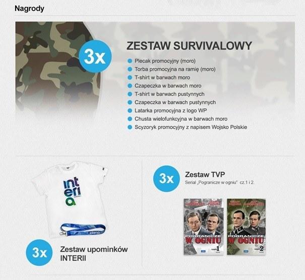 """Nagrody w konkursie """"Wielki Test o Wojsku Polskim"""" /INTERIA.PL"""