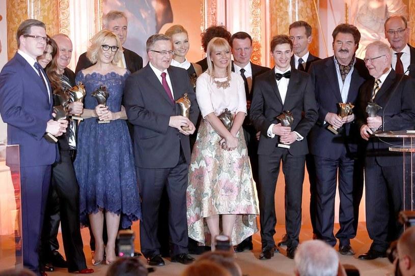 Nagrodzeni podczas gali rozdania Wiktorów 2013 /Michał Baranowski /AKPA