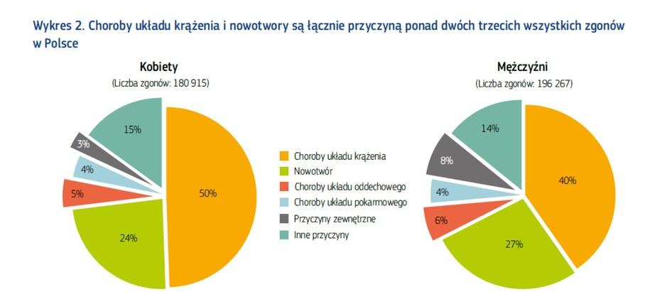 Najczęstsze przyczyny zgonów u kobiet i mężczyzn w Polsce /Komisja Europejska /Materiały prasowe