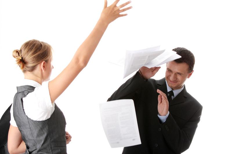 Najczęstszymi biurowymi postrachami są niezrównoważony szef i podstępni współpracownicy /© Panthermedia