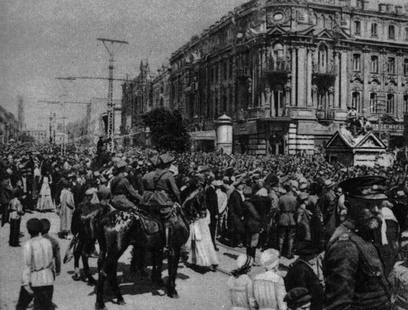 Najhuczniej świętowano zwycięstwa. Wkroczenie wojsk polskich do Kijowa w maju 1920 roku /Piotr Mecik /Agencja FORUM