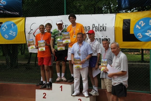 Najlepsi debliści na podium    Fot. Janusz Ansion /INTERIA.PL