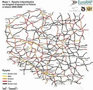 Najniebezpieczniejsze polskie drogi