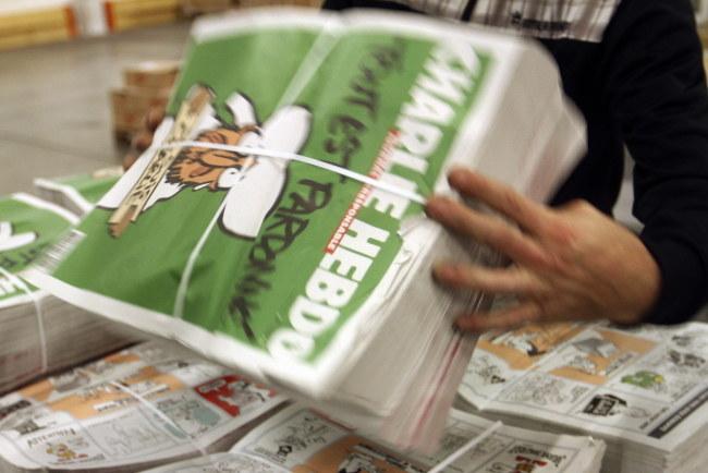 "Najnowszy numer ""Charlie Hebdo"" /Eddy Lemaistre /PAP/EPA"