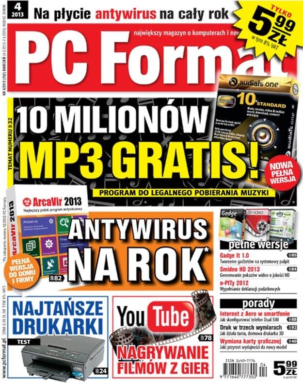 Najnowszy numer miesięcznika PC Format 4/2013  - od 4 marca w kioskach /PC Format