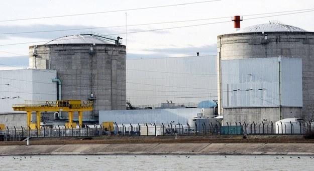 Najstarsza francuska elektrowni atomowej w Fessenheim w Alzacji /Patrick Seeger  /PAP