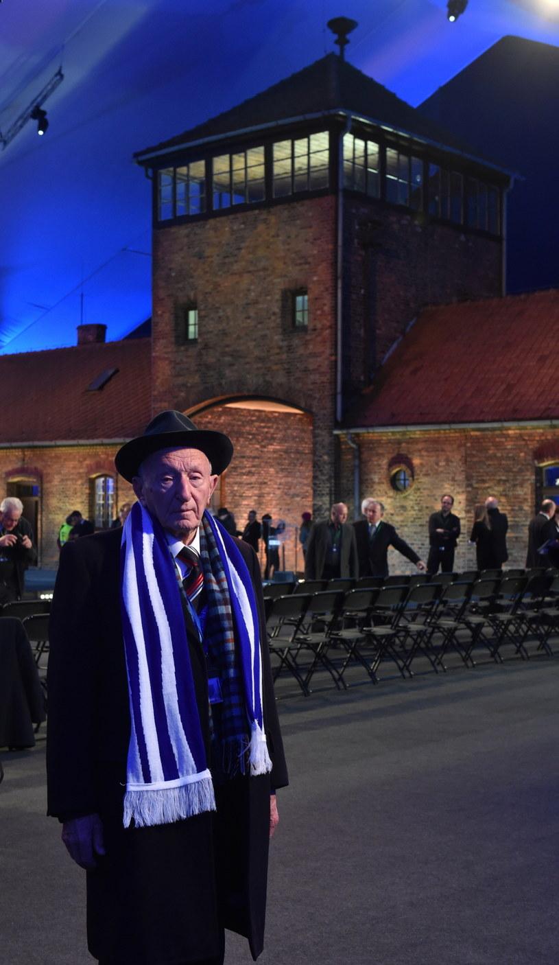 Najstarszy żyjący więzień Jehuda Widawski podczas uroczystości 70. rocznicy wyzwolenia KL Auschwitz /Jacek Bednarczyk /PAP