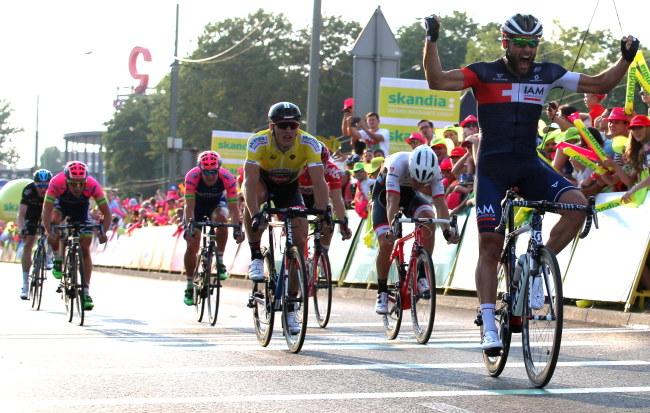 Najszybszy na finiszu był Pelucchi /Andrzej Grygiel /PAP
