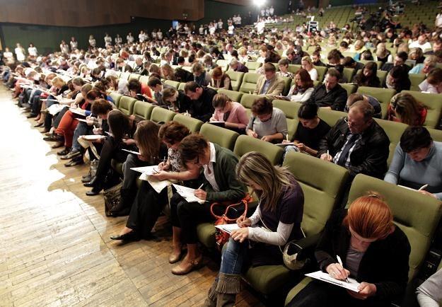 Największa w Polsce klasówka z ortografii, fot. A. Grygiel /PAP