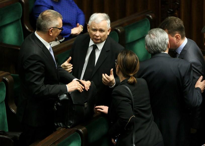 Największe poparcie ma partia Jarosława Kaczyńskiego /Tomasz Gzell /PAP
