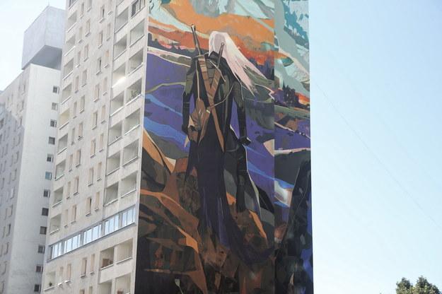Największy mural w kraju i jeden z największych na świecie /Roman Zawistowski /PAP
