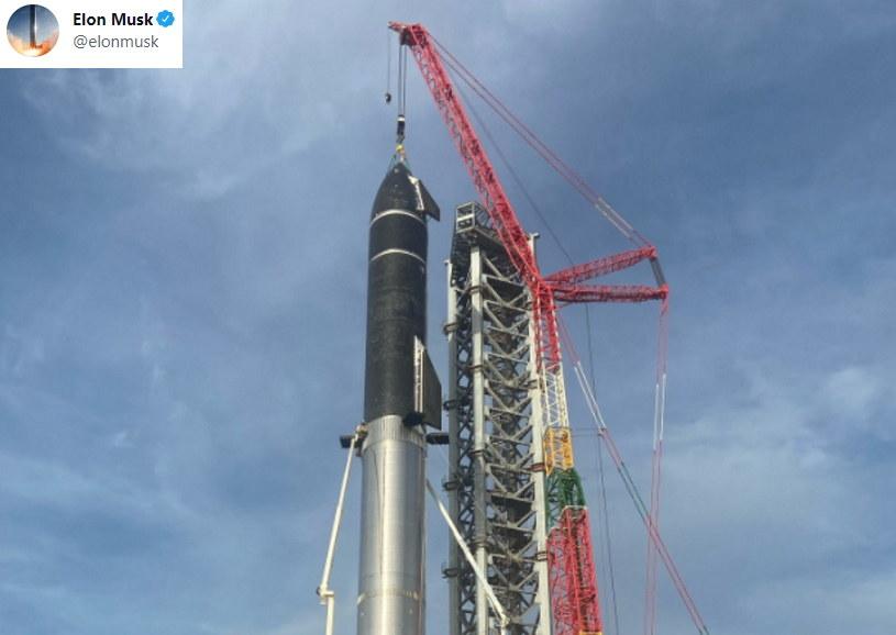 Najwyższa rakieta świata - tak twierdzi Musk /Twitter