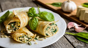 Naleśniki Nadziewane szpinakiem i białym serem