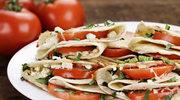 Naleśnikowe ruloniki z mozzarellą